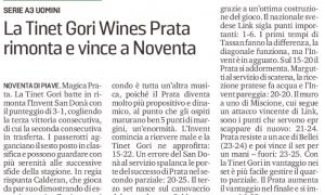 La Tinet Gori Wines Prata rimonta e vince a Noventa