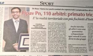 Fipav Pn, 110 arbitri: primato tricolore