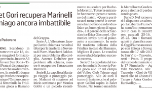 Tinet Gori recupera Marinelli. Maniago ancora imbattibile